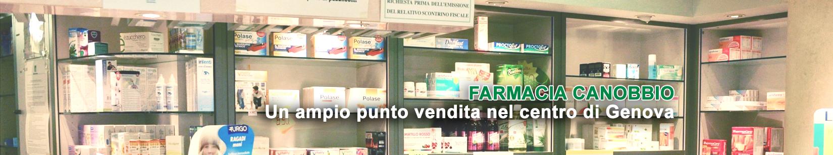 Farmacia Canobbio, un ampio punto vendita nel centro di Genova